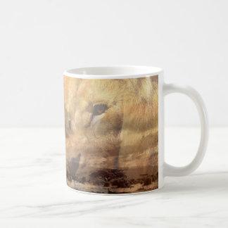 ライオンのサファリのマグ コーヒーマグカップ