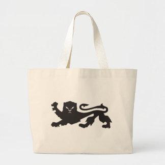 ライオンのジャンボ戦闘状況表示板 ラージトートバッグ