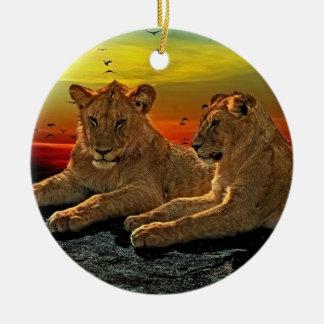 ライオンのスタイル セラミックオーナメント