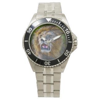 ライオンのステンレス鋼の腕時計 腕時計