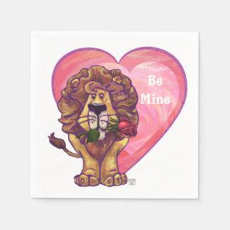 ライオンのバレンタインデー スタンダードカクテルナプキン