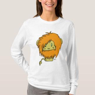 ライオンのフード付きスウェットシャツ Tシャツ