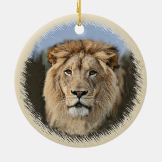 ライオンのプライド セラミックオーナメント