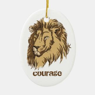 ライオンのヘッドカスタムな勇気のカスタムなオーナメント セラミックオーナメント
