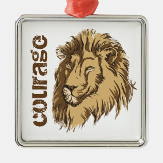 ライオンのヘッドカスタムな勇気のカスタムなオーナメント メタルオーナメント