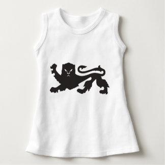 ライオンのベビーの袖なしの服 ドレス