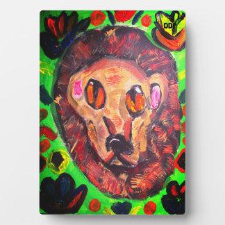 ライオンのポートレートの芸術 フォトプラーク