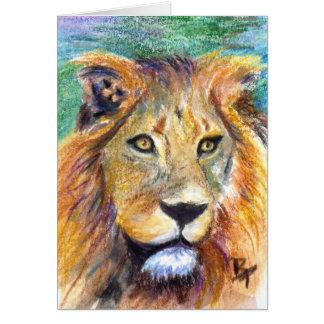 ライオンのポートレートACEOの空白のなカード カード