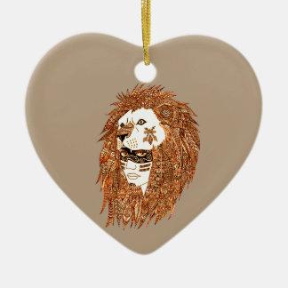 ライオンのマスク セラミックオーナメント