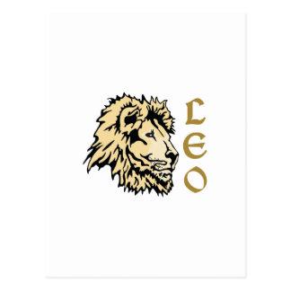 ライオンのレオの(占星術の)十二宮図 ポストカード