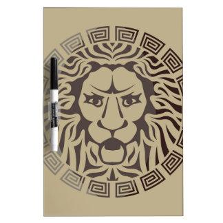ライオンのロゴのヴィンテージのスタイル ホワイトボード