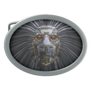 ライオンのロボット楕円形のベルトの留め金 卵形バックル