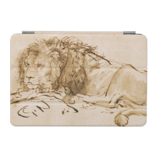 ライオンの休息(紙でペンとインク) iPad MINIカバー