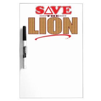 ライオンの保存 ホワイトボード