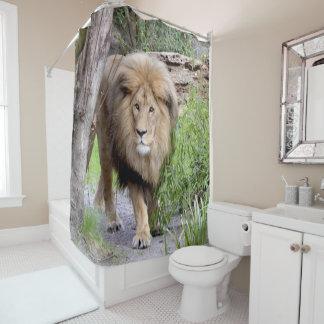 ライオンの写真のプリントのシャワーCutrain シャワーカーテン