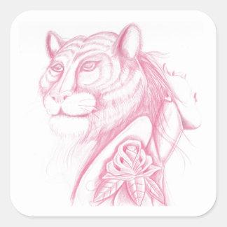 ライオンの女性 スクエアシール