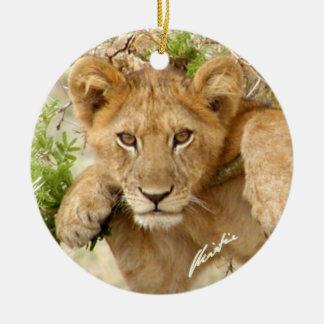 ライオンの子は飾ります(2味方されて) セラミックオーナメント