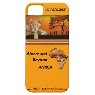ライオンの子及び木及びアフリカのコラージュの下の種族 iPhone SE/5/5s ケース