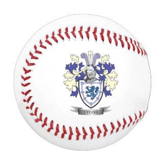 ライオンの家紋の紋章付き外衣 野球ボール