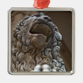 ライオンの彫像フィレンツェイタリア メタルオーナメント