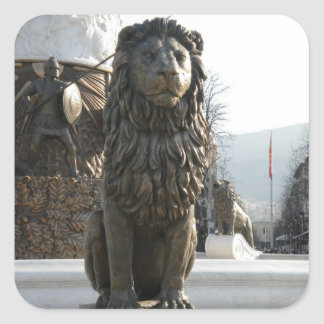ライオンの彫像 スクエアシール