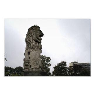ライオンの彫像 フォトプリント