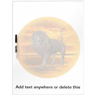 ライオンの日没 ホワイトボード