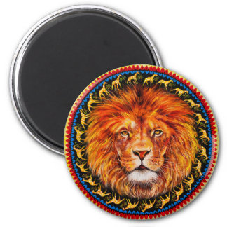 ライオンの正方形の磁石 マグネット