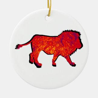 ライオンの歩行 セラミックオーナメント