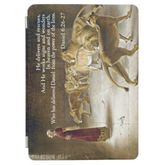 ライオンの洞穴の聖書の聖なる書物、経典のクリスチャンのダニエル iPad AIR カバー