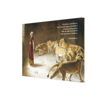 ライオンの洞穴の聖書の芸術の聖なる書物、経典のダニエル キャンバスプリント