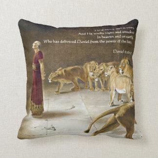ライオンの洞穴の聖書の芸術の聖なる書物、経典のダニエル クッション