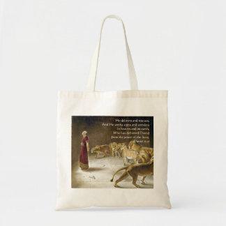 ライオンの洞穴の聖書の芸術の聖なる書物、経典のダニエル トートバッグ