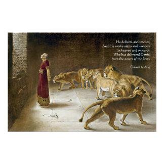 ライオンの洞穴の聖書の芸術の聖なる書物、経典のダニエル ポスター
