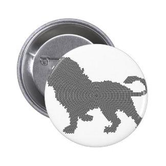 ライオンの点 5.7CM 丸型バッジ