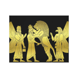 ライオンの狩り キャンバスプリント