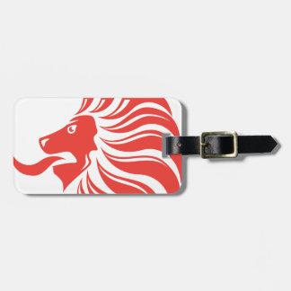 ライオンの王冠のベクトル ラゲッジタグ