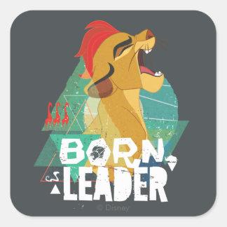 ライオンの監視|生まれるリーダーKion スクエアシール