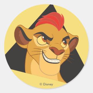 ライオンの監視| Kionキャラクターの芸術 ラウンドシール