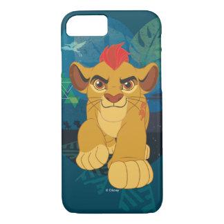 ライオンの監視  Kionサファリのグラフィック iPhone 8/7ケース