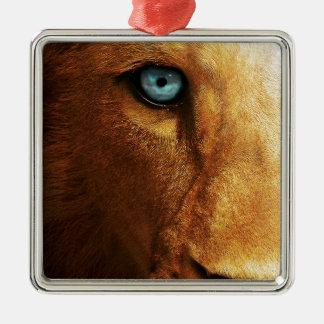 ライオンの目の青の抽象芸術の大きい頭部 メタルオーナメント