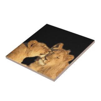 ライオンの組のタイル(または記念品箱に作って下さい) タイル