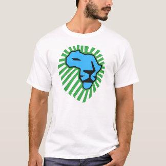 ライオンの緑の鬣のWaka青いWakaのワイシャツ Tシャツ