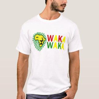 ライオンの緑の鬣のWaka黄色いWakaのワイシャツ Tシャツ