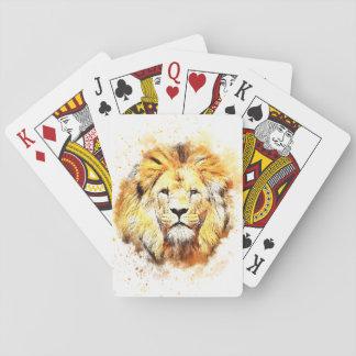 ライオンの色彩の鮮やかなポートレート トランプ
