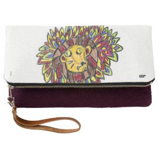 ライオンの芸術1 クラッチバッグ