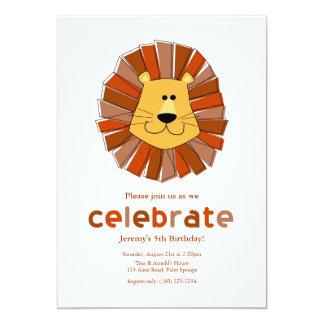 ライオンの誕生日の招待状 カード