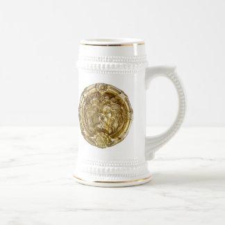 ライオンの金ゴールドビールステイン ビールジョッキ