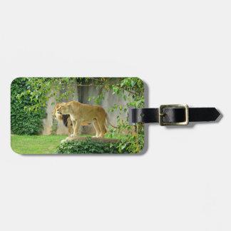 ライオンの雌ジシの荷物のラベル ラゲッジタグ