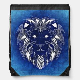 ライオンの青 ナップサック